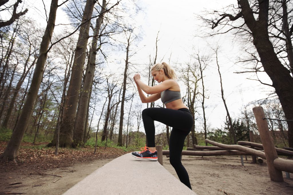 simple exercise step-ups